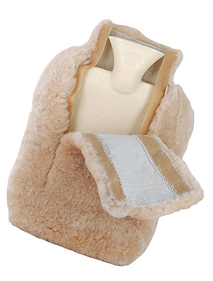 Lammfell-Wärmeflasche