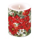 Christrosen-Weihnachtsstern-Kerze